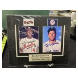 Matted Mickey Mantle & Hank Aaron Signed Photos