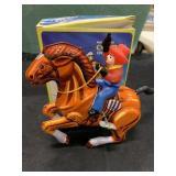 Vintage Bucking Bronco Cowboy Wind-Up Toy MIB