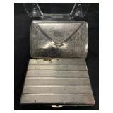 Two Vintage Chrome Silver Cigarette Cases
