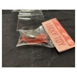 Vintage Dime Store Lucky Toy Red Plastic Car In Bg
