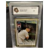 Mickey Mantle Metal Card Graded Gem Mint 10-67