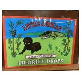 Little African Licorice Drops Black Americana Sign