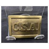Gold Brass C.S.A. Belt Buckle
