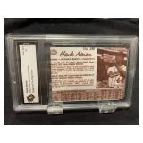 Hank Aaron Post Cereal Printing Plate Card Graded