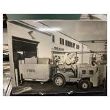TWA Vintage Airplane Training Photo-Baggage Cart