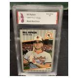 1989 Fleer Billy Ripken Black Box Card Graded Gem