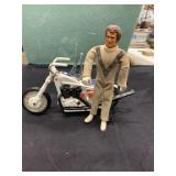 Vintage Original Evel Knievel Doll and Motorcycle
