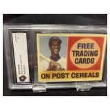 Ernie Banks Post Card Graded Gem Mint 10