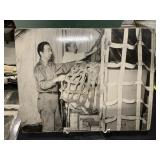 Vintage TWA Airplane Training Photo-Cargo Net