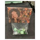 Vintage Jayne Mansfield Marbles In Bag