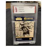 Tom Brady College Card Graded Gem Mint 10