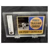 Babe Ruth Post Card Graded Gem Mint 10