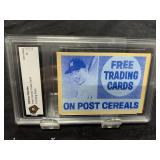 Mickey Mantle Post Printing Plate Graded Gem Mint