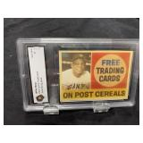 Willie Mays Post Card Graded Gem Mint 10
