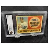 Jackie Robinson Post Card Graded Gem Mint 10