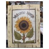 Welcome Home Cardboard Home Decor Wall Sign