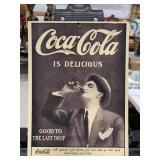 Coca-Cola B&W Cardboard Hanger Sign