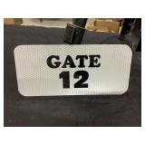 "Vintage Stadium Gate 12 Metal Sign 9""x4"""
