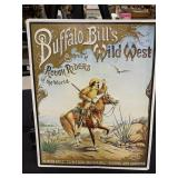 "Buffalo Bill Embossed Metal Sign 18"" x 12"""