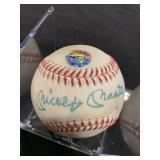 Mickey Mantle Signed Baseball w/COA In Case