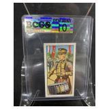 German Nazi Tobacco Card Graded Gem Mint 10-Drums