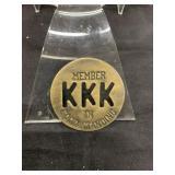 Vintage KKK Member Coin