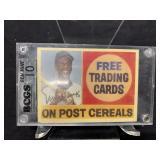 Ernie Banks 1/1 Gold Signed Post Card Graded Gem