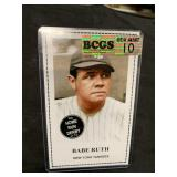 Babe Ruth Large Size Card Graded Gem Mint 10