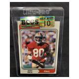 Jerry Rice Football Card Graded Gem Mint 10