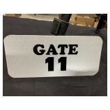 "Gate 11 Metal Sports Stadium Sign 9"" x 4"""