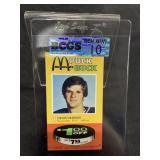 Vintage Dennis Herron Puck Buck Card Graded Gem Mt