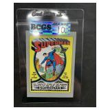 Superman Graded Gem Mint 10 Card