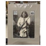 """Matted 14"""" x 11"""" Geronimo Print"""