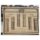 Winchester Flashlights Advertising Litho Poster