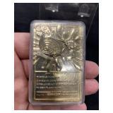 Pokemon Gold Bar Card In Case