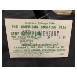 1955 Gene Autry Annie Oakley Show Kids Ticket