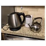 Electric tea kettle, coffee grinder, tea kettle