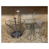 K cup holder, paper towel holder, dish rack, etc