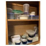 Content of two kitchen shelves