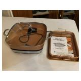 Copper chef removable electric skillet