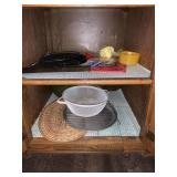 Glass cutting boards, placemats, wire racks, etc.