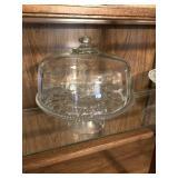 Glass cake stand w dome