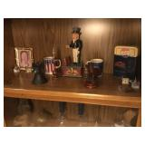 figurines and coffee cups