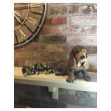 Basset hound, and puppies  sculptures