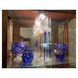 Cut blue glass
