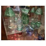 Green misc cut glass