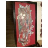 Framed Firetruck puzzle