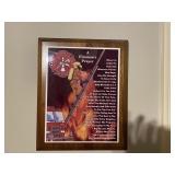 A fireman prayer plaque