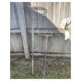 Pickaxe and rock rake