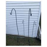 Four flower hangers